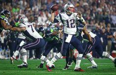 New England Patriots quarterback Tom Brady throws against the Seahawks during Super Bowl XLIX at University of Phoenix Stadium. The Seahawks lost to the Patriots 28 to 24. Photographed on Sunday, February 1, 2015.  (Joshua Trujillo, seattlepi.com) Photo: JOSHUA TRUJILLO, SEATTLEPI.COM