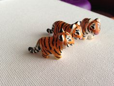 Miniature Tiger  Sculpture, Polymer Clay Tiger Chub, Semi-Realistic, Tiger Animal Totem on Etsy, $15.36 CAD
