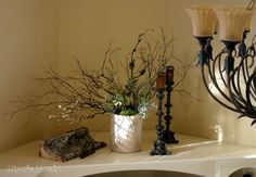 Tutorial:  How to decorate alcoves, nooks, ledges and other difficult spaces in your home.