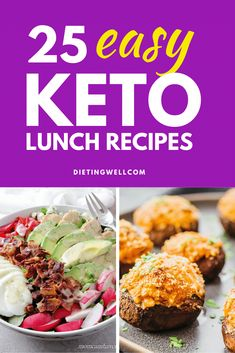Here are our top 25 best low-carb and keto lunch recipes. Some recipes here come together in minutes dont require actual cooking and you can take them on the road. Others might take a little foresight or reheating but theyre worth the effort. Keto Lunch Ideas, Lunch Recipes, Low Carb Recipes, Diet Recipes, Healthy Recipes, Diet Tips, Fall Recipes, Healthy Desserts, Meal Ideas