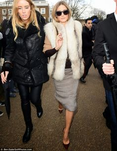 London Fashion Week 2014 : Olivia Palermo at Burberry Prorsum