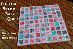 Riley Blake Designs Blog: Project Design Team Wednesday ~ Cottage Stamp Baby Quilt