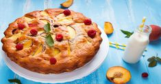 Fruit-Infused Dessert: Peach Raspberry Cake
