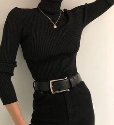 Look Fashion, Korean Fashion, Winter Fashion, Fashion Women, Fashion Black, Fashion Basics, Ulzzang Fashion, Gothic Fashion, 90s Fashion