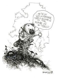 #DailySketch Beaver plays the Blues. http://www.skottieyoung.com http://skottieyoung.tumblr.com