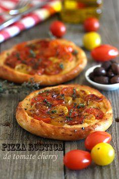 Pizza rústica de tomate cherryBavette | Bavette