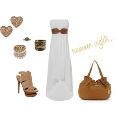 summer nights..., created by ashly-marie-barrera on Polyvore
