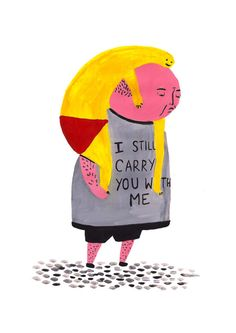 I still Carry You With Me  A4 Giclee print by LauraGeeIllustration, £15.00