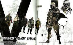 Venom Snake Concept Art - Yoji Shinkawa 2015