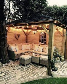 Patio Diy, Cozy Patio, Backyard Gazebo, Backyard Patio Designs, Outdoor Pergola, Small Backyard Landscaping, Pergola Designs, Diy Pergola, Pergola Kits