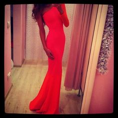 Perfect red marine corp ball gown!