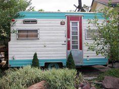 vintage camping trailer