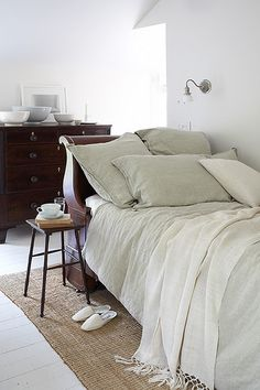 White bedroom. Something about this just looks so inviting.