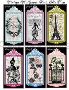 Paris vintage tags