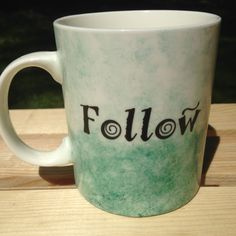 """""""Follow the child.""""  Maria Montessori  Montessori Quote Watercolor Mug Green  """"Follow the child""""  by MOMtessoriLife - great teacher gift idea!"""