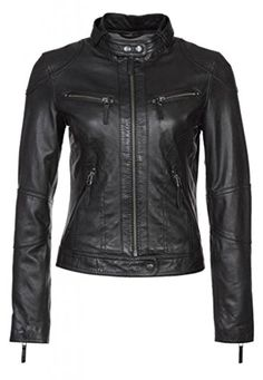 Black X-Small Black Brand Vintage Rebel Leather Womens Street Motorcycle Jackets