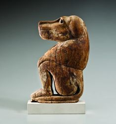 Bowers Museum - Soulful Creatures: Animal Mummies In Ancient Egypt. Seated baboon