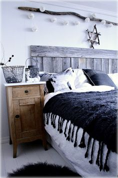 """@Darlene Nastansky, mom, minus the star, the different woods and the lights, looks nice... ideas, ideas   """"my scandinavian home: Bedroom"""""""
