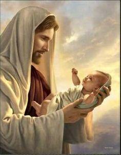 Let's pretend this is Joseph holding Baby Jesus.