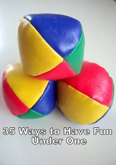 35 ways to have fun under one...lots of fun activities for kids under one year old!