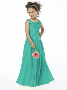 Green turquoise flower girl