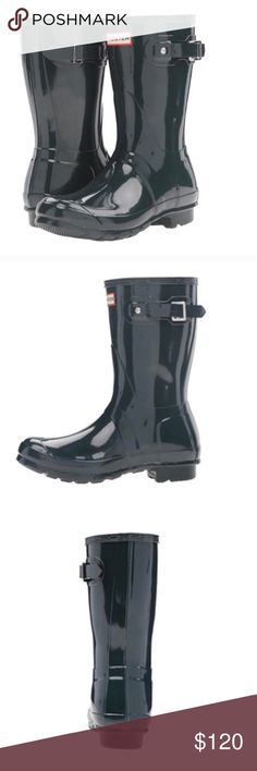 Brand new hunter short rain boots New in box, color is ocean Hunter Shoes Winter & Rain Boots