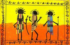african folkart silhouettes - Google Search