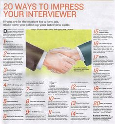 20 Ways To Impress Your Interviewer