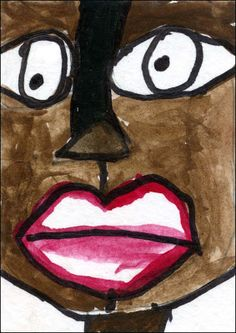 Have you seen the latest from an important new artist named Kephki? I LOVE the wobbly lines and colors and outlined lips. It just has that Haitian spirit in it, you know? What a genius. Oh, by the way, Kephki is about 9 years old and lives in an orphanage and most likely never had an art lesson before.