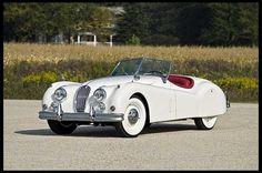 '57 Jag Roadster.  in white.