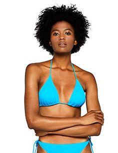 63fe16675e5b Iris   Lilly Haut de Bikini Triangle Ajustable Femme Bleu (Marine Blue) 12  (Taille fabricant  Medium)