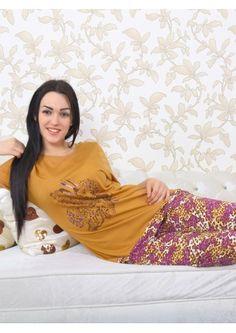 Büyük Beden Baskılı Bayan Pijama Takımı