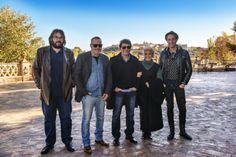 El director del Festival Gabriel Castaño junto a los invitados en la Terraza del Río
