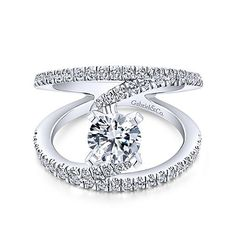Voted #1 most preferred fine jewelry brand. Nova 14k White Gold Round Split Shank Engagement Ring