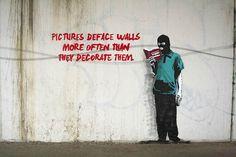 """"""" Les images dégradent les murs beaucoup plus souvent qu'elles ne les décorent."""" OU"""" Autocritique..."""" / Street art. / Vancouver. / Canada. / By IHeart."""