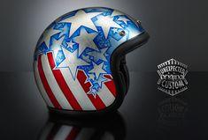 custom helmet captain america
