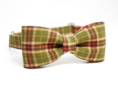Green and red check bowtie - Adjustable Pre-Tied Bowtie for Boys, Toddlers, Baby