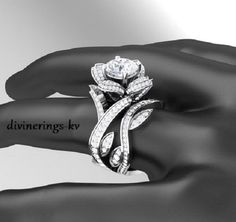 925kt sterling silver engagament wedding ring band & or set beautiful gorgeous pretty women men couple matching unisex designer divine fancy by divinekloset on Etsy