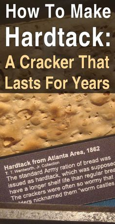 How to Make Hardtack: A Cracker That Lasts for Years Hardtack is easy to make and it lasts for decades, making it an excellent survival food for your stockpile. Emergency Food, Survival Food, Outdoor Survival, Survival Prepping, Survival Skills, Emergency Preparedness, Survival Hacks, Emergency Kits, Camping Survival