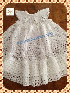 PATTERN PT079 Crochet Baby Christening Dress by PatternsDesigner, $6.50