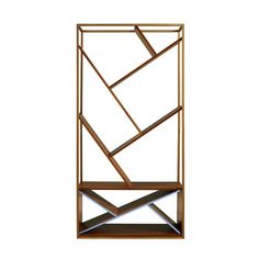 If you're looking for a trendy and modern way to store all of your favorite books and magazines and would like to display them in an eye-catching way, the Wellton Etagere Bookcase is sure to fit the bill. Office Decor, Decor, Door Accessories, Furniture, Shop Interiors, Etagere Bookcase, Basket Shelves, Gold Office Decor, Metal Shelves