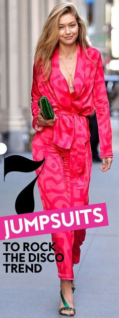 Shop our favorite jumpsuits to rock the 70's disco trend! #Jumpsuits #JumpsuitsforFall