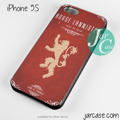 game of thrones house of lannister Phone case for iPhone 4/4s/5/5c/5s/6/6 plus