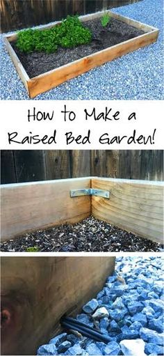 Raised Garden Beds! This super easy to build DIY Raised Garden Bed is the perfect option for hassle free gardening!