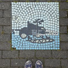 Manchester city centre is full of pokestops, and Pokemon Go helped me discover so many new and beautiful places in Manchester. This tiled mosaic was spotted at Media City. Click through to see what else I found!