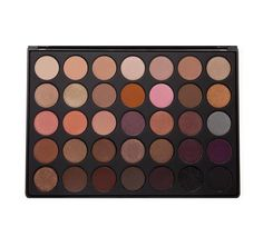 """Description Ingredients    This is an all-in-one palette with a beautiful mix of matte and shimmery finishes for those who love those warm bronze, plum and peachy shades. It has everything you need to blend, transition and highlight with gorgeous shimmers to create eye looks that are anything but ordinary.  Dimensions of Palette: Length - 9"""" / Width - 6 1/2"""" / Thickness - 1/2"""" / Number of Pans: 35 /Pan Size: 1"""" (Net Wt. 56.2g / 1.98oz)..."""
