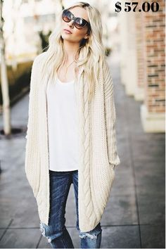 Roscoe Oversized Knit Cardigan $ 57.00 Elevate your sweater collection with our luxurious cable trim and ribbed texture knit cardigan. An open front keeps this look soft and chic. #DRESSES #TOPS #BOTTOMS #SWIMWEAR #SHOES #KIDS #PLUSSIZES #LINGERIE #ACCESSORIES #SALE #Bandage #Pencil #Maxi #Lace #Chiffon #Mini #Vintage #Evening #LongSleeves #Casual #T-shirt #Blouses #Sweatshirts #Hoodies #Sweaters #Cardigans #Outerwear #SuitSets #Bodysuit