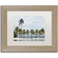 Trademark Fine Art View of Downtown Miami Canvas Art by Philippe Hugonnard, White Matte, Birch Frame, Size: 11 x 14, Green