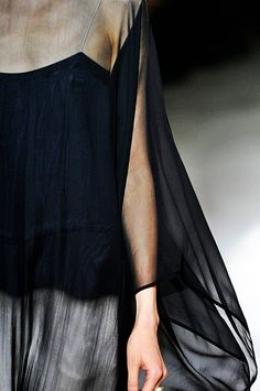 black . crepe, chiffon, transparent