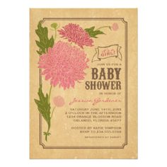 20,000+ Baby Girl Shower Invitations & Announcement Cards | Zazzle